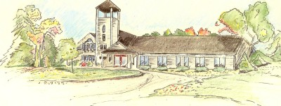 CHURCH COLORIZED PENCIL DRAWING1