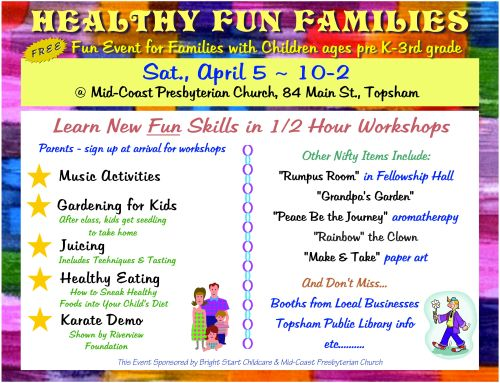 Healthy Fun Families Flyer